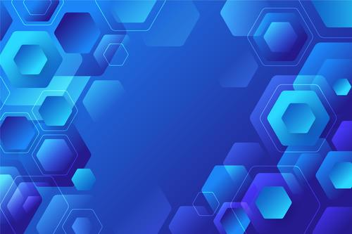 Honeycomb blue background vector