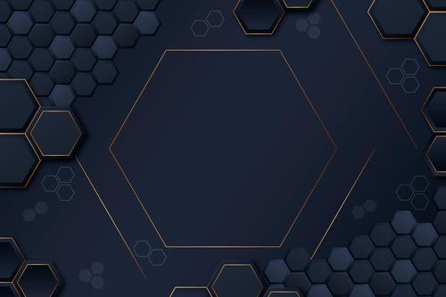 Honeycomb geometric background vector