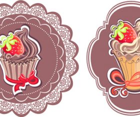 Ice cream frame vector