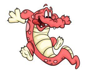Icon crocodile cartoon vector