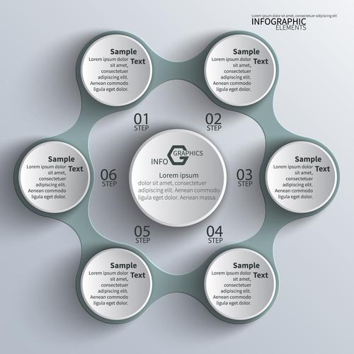 Information graphics elements vector