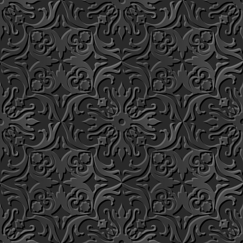 Intricately carved 3d modern decorative patterns in vector