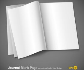 Journal blank page vector
