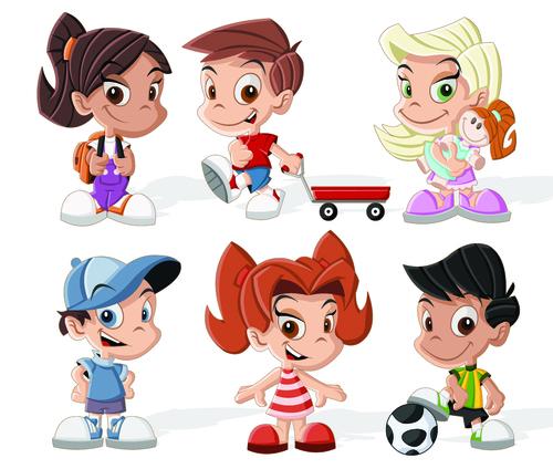 Kids cartoon illustration vector