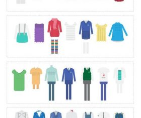 Kids clothes vector