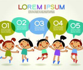 Kids information cartoon illustration vector