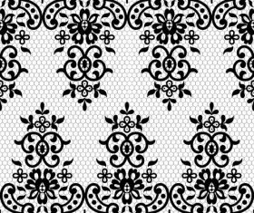 Knitted lace flower decoration pattern vector