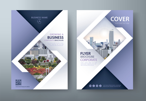 Large corporate promotional brochure vector