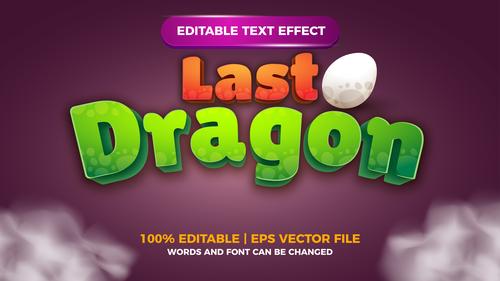 Last Dragon text effect vector