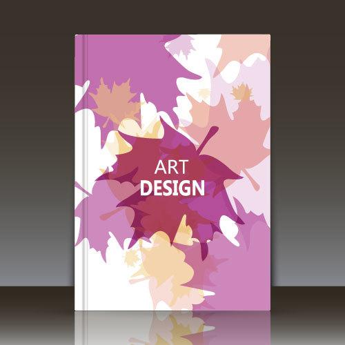 Leaf pattern brochure background vector