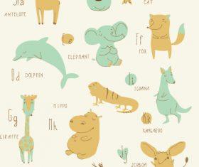 Learn English alphabet vector