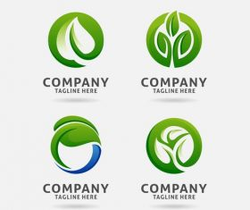 Letter from leaf logo vector