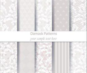 Light gray damask patterns vector