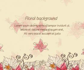 Line floral background vector