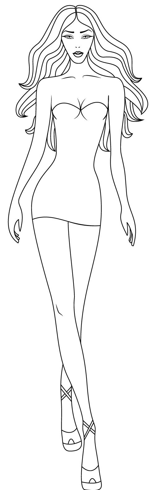 Line sketch vector