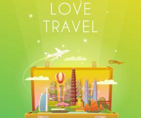 Live love travel vector