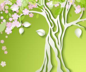 Lush tree vector background