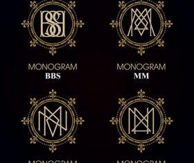 MM monograms in vector