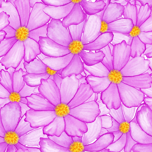 Magnify flower seamless background vector