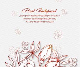 Making floral background vector