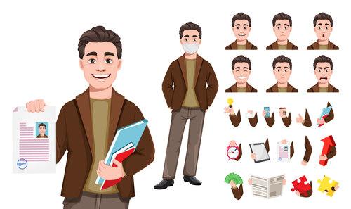 Male cartoon character vector