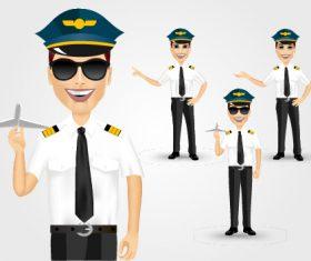 Male pilot vector