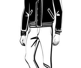 Male sketch vector