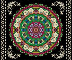 Mandala fabric printing square scarf vector