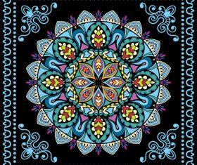 Mandala print design style vector
