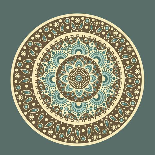 Mandala seamless background vector
