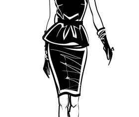 Mannequin sketch vector