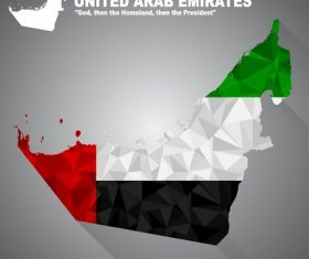 Map flag United arab emirates vector