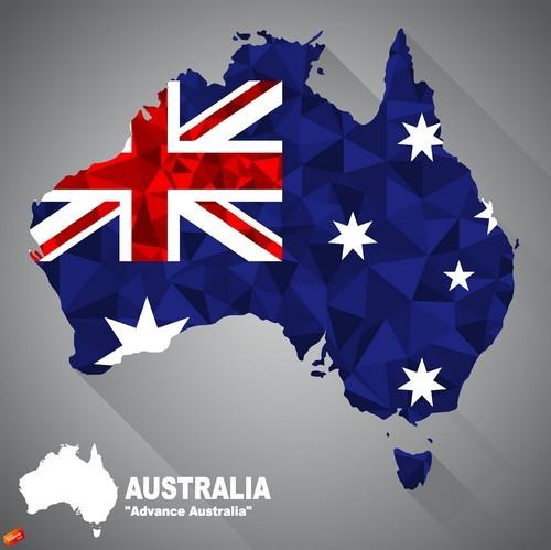 Map of flag Australia vector
