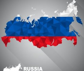 Map of the flag Russia vector