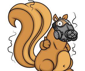 Masked squirrel vector