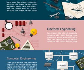 Mechanical engineering graphic banner vector