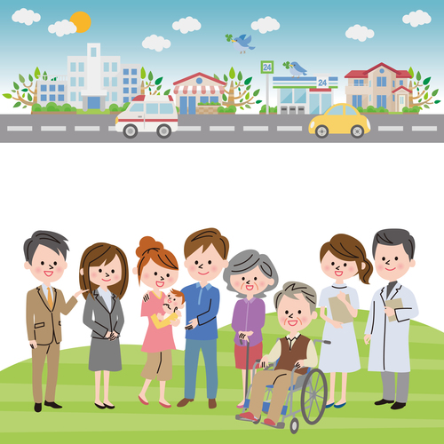 Medical insurance vector