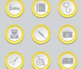 Medical vector button Icon