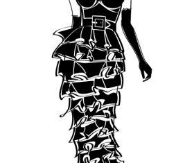 Modern women sketch vector