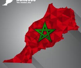 Morocco map flag vector