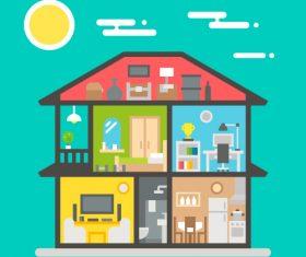 My home cartoon vector