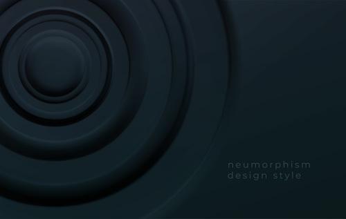 Neumorphism design style vector