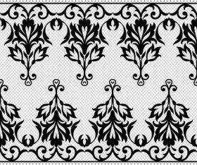 Nice flower knitting pattern vector