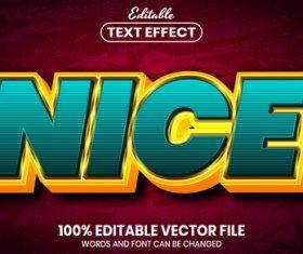 Nice font style editable text effect vector