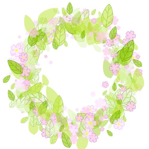 Nice spring wreath vector background