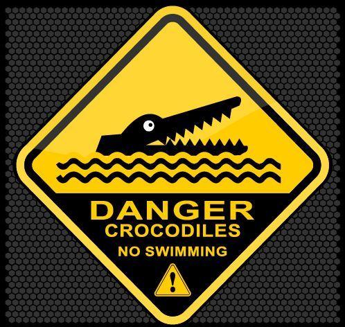 No swimming warning sign vector
