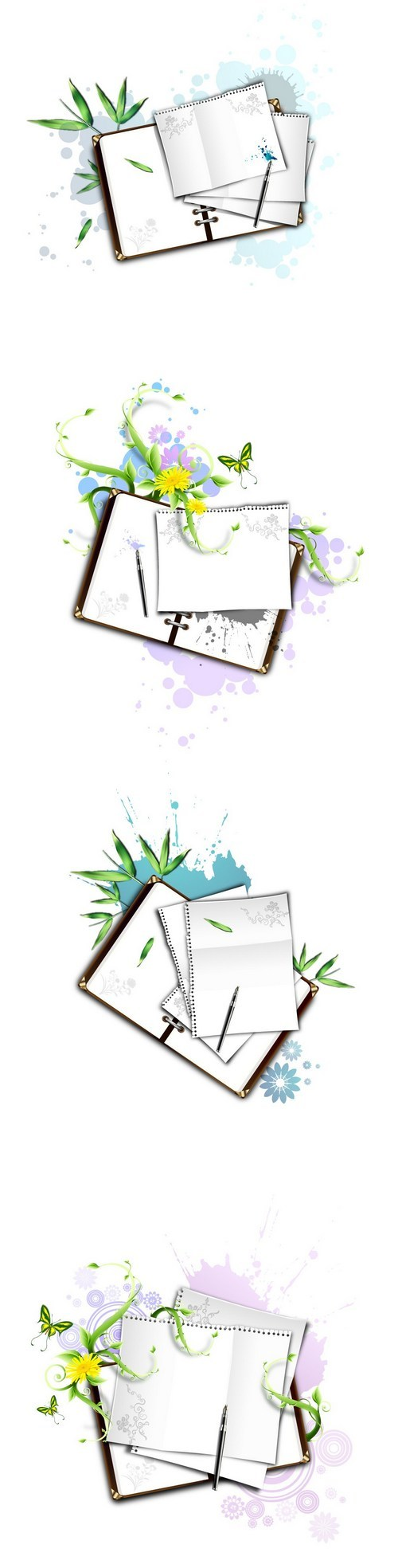Notebook and paper vector