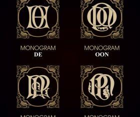 OON monograms in vector
