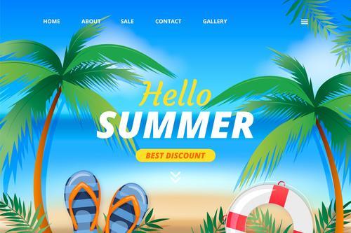 Online store login page design vector