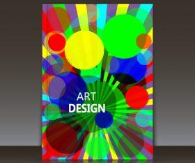 Overlay circle brochure background vector